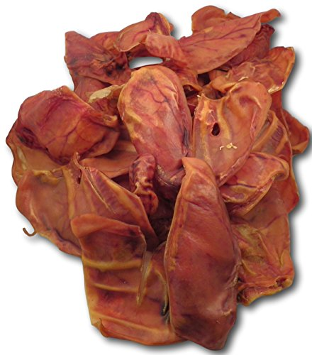 100 ct. Bulk Whole Smoked USA Pig Ears by Pet Treats Place