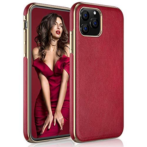 LOHASIC iPhone 11 Pro Max Case for Women, Luxury Leather Slim-Fit Soft Non-Slip Grip Flexible Bumper Shockproof Anti…