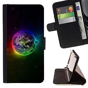 For LG G4 Case , Planète arc Etoiles Lune - la tarjeta de Crédito Slots PU Funda de cuero Monedero caso cubierta de piel