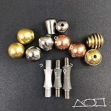 AroundSquare Knucklebone Modular - Begleri - Skill Toy (Titanium with Copper