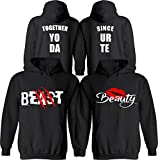 Beast & Beauty [Personalized] Together Since [Your Date] - Matching Couple Hoodies - His and Her Love Sweaters