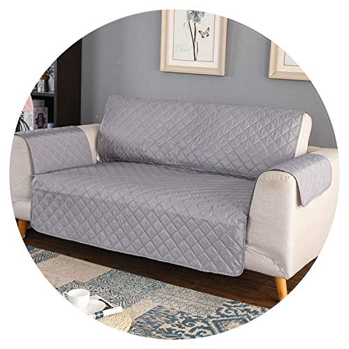 100% Waterproof Quilted Sofa Covers for Dogs Pets Kids Recliner Armchair Couch Slipcover Furniture Protector Anti Slip,Light Grey,Three Seats (Furniture B&ms Garden)