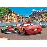 Cars Papier Peint Photo/Poster - 2, Flash McQueen Et Francesco Bernoulli, Course (160 x 115 cm)