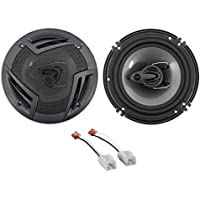 2007-2017 Jeep Wrangler 6.5 750w 3-Way Front Factory Speaker Replacement Kit