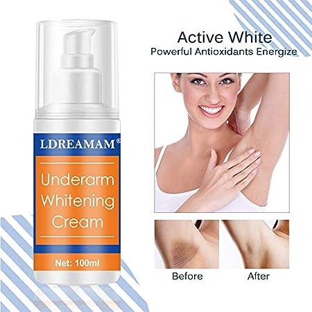 Whitening Cream,Crema Blanqueadora,Skin Whitening Cream,Crema Corporal para Piel Oscura,Cuello, Zonas sensibles, Codos, Muslos Interiores, Rodillas y Axilas, Crema para el Cuidado de la Piel