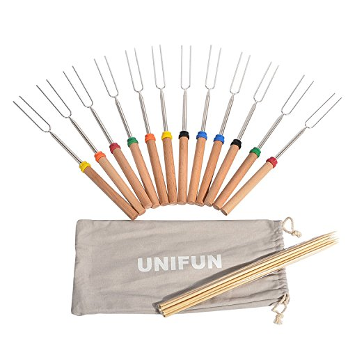 UNIFUN Marshmallow Roasting Sticks, SET of 12 FDA APPROVED 32