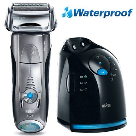 Braun 799cc-6 Series 7 Mens 3 Blade Foil Wet Dry Shaver European Plug with American Adapter Included by Braun