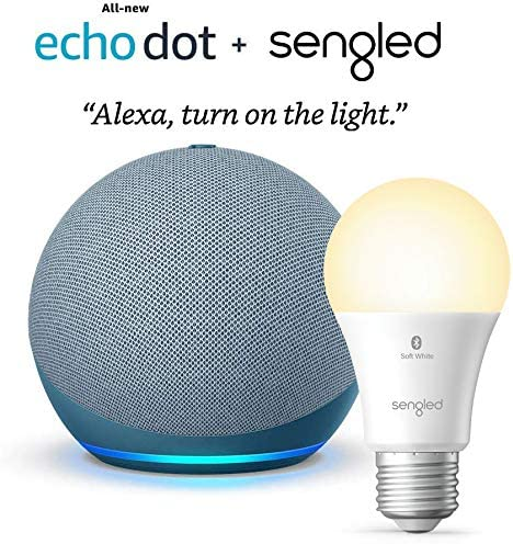 Allnew Echo Dot 4th Gen  Twilight Blue  bundle with Sengled Bluetooth bulb at Kapruka Online for specialGifts