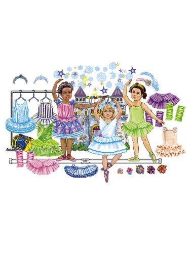 Ballerina Felt Dolls & Accessories Add on Pack for flannel boards- 28 pieces