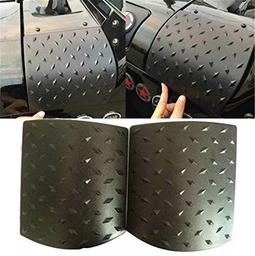FMtoppeak Cowl Body Armor Powder Coated Finish Outer Cowling Cover Black Durable ABS Plastic Body Armor Side Cowl Cover For Jeep Wrangler Rubicon Sahara Jk & Unlimited 2007-2017 Abs Plastic Body