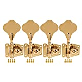 Kmise 5 String Bass Electric Guitar Tuners Tuning Pegs Keys Machine Heads Open Gear 4R1L Gold 1 Set (MI1511)