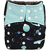 AIO reutilizable lavable Cloth Diaper Nappy carbón bambú