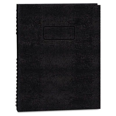 - Exec Wirebound Notebook, College/Margin Rule, 8-1/2 x 11, BLK, 100 Sheets - Exec Wirebound Notebook