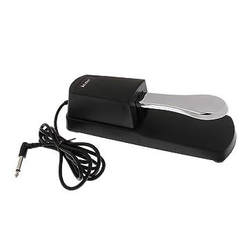 B Blesiya 1 Pieza Pedal Sustain para Piano Práctica Damper Sostenido para Principiantes Producción Instrumentos Musicales - Plateado, 23x7x6cm: Amazon.es: ...
