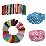 50 Bulk Girls Baby Toddler Crochet Headband Hairband // 50 niñas granel hairband de la venda del bebé niño de ganchillo