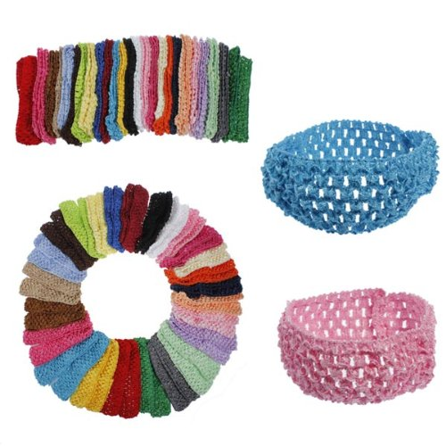 50 Bulk Girls Baby Toddler Crochet Headband Hairband Bheema SKUSKD0819859