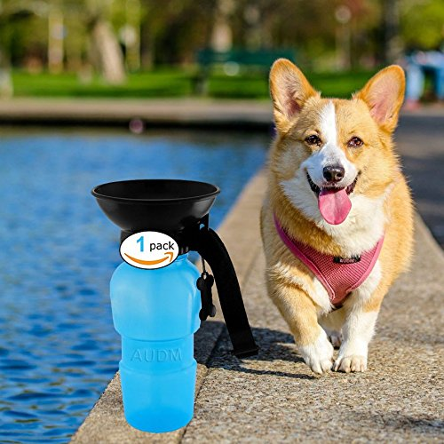 Auto Dog Mug Outdoor Portable Dog Water Bottle Travel Water Drink Bottle Bowl for Pet Cat Bottle Press (Portable Travel Bowl)