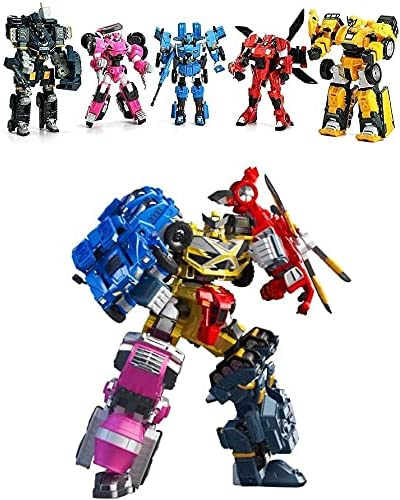 Miniforce Penta X Bot Volt/MAX/Sammy/Leo/Lucy Pentatron Transformer Robot Car 5-Stage Coalescence Robot Korean Toy 2021 New