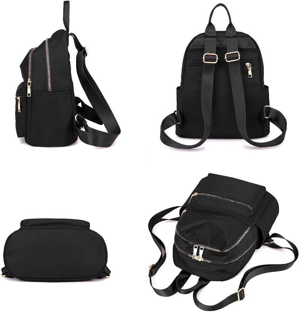 XUEREY Womens Waterproof Multi-Pocket Backpack Shoulder Bag Nylon Travel School Bag Laptop Rucksack