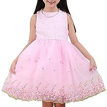 Little Girls Flower Lace Princess Tutu Dress Party Pageant Wedding Bridesmaid