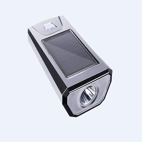 CHUSHENG Luz de bocina Solar para Bicicletas, Linterna para ...