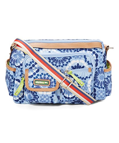 Lily Bloom Libby Hobo Crossbody Bag in Sahara Denim