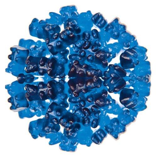 Royal Blue Raspberry Flavored Gummy Bears 5 Pound Bulk Bag