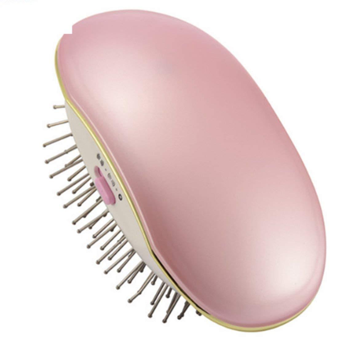 Peine para el cabello Cepillo para el cabello Alisado del cabello Masaje Peinado recto Peinado negativo Ion Peine Herramienta portátil antiestática - Rosa: ...
