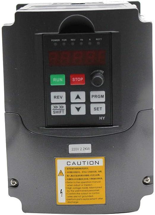 MINUS ONE Frequenzumrichter 3KW Variable Frequency Driver VFD 220V 4HP Professional Frequenzwandler Inverter Antrieb f/ür Spindelmotor