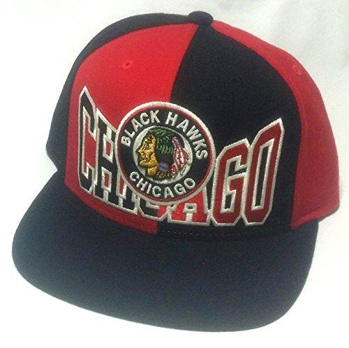 Ccm Vintage Cap (Chicago Blackhawks CCM Vintage NHL Pinwheel Red Black Reebok Snapback Hat)