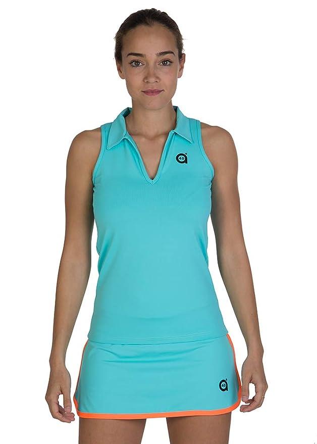 a40grados Sport & Style, Polo Peka Celeste, Mujer, Tenis y Padel ...