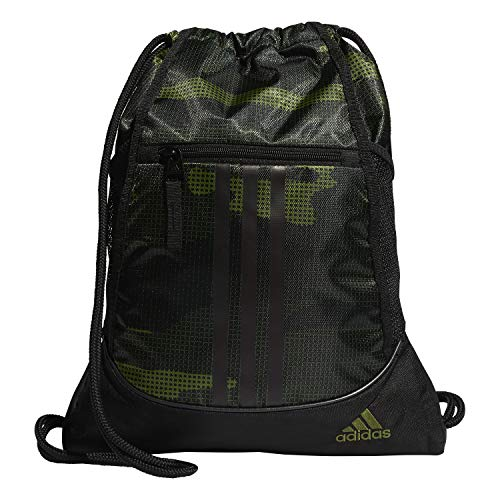 51o1xkjnvIL - adidas Unisex Alliance II Sackpack, Tech Olive Off The Grid Camo/Black, ONE SIZE