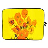 Huado Laptop Sleeve 17 inch Neoprene Water Repellent Material Chromebook Carrying Case Bag Cover Pocket Tablet Notebook Pouch for 17-17.3 inch MacBook Pro,Acer,ASUS,DELL,HP (Sunflower)