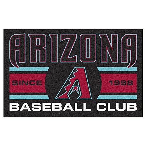 (MLB Arizona Diamondbacks Starter Mat Rectangular Area Rug )