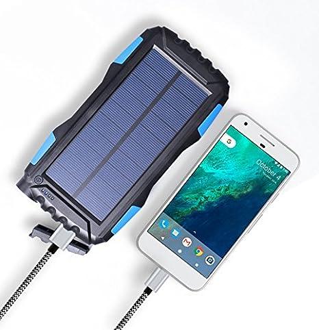 SAYES SOLAR - Cargador de Banco de Energía Solar Móvil de ...