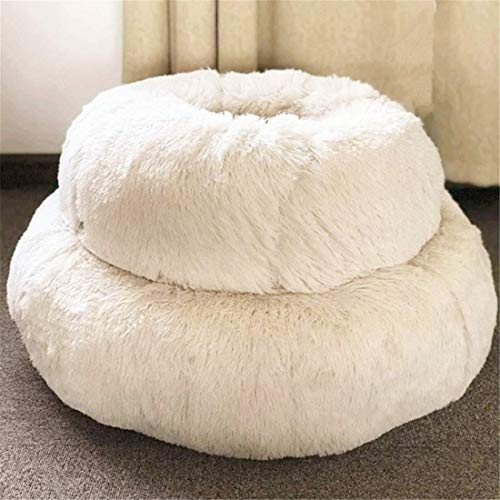 ALIGA Fur Donut Cuddler (Multiple Sizes) -Round Donut Cat and Dog Cushion Bed,Orthopedic Relief, Self-Warming and Cozy for Improved Sleep - Prime, Machine Washable. (20