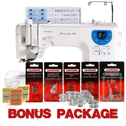 Janome Memory Craft 6300P Sewing Machine w/ FREE Bonus Kit