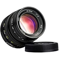 ZHONGYI 42.5mm f1.2 Large Aperture Lens FREEWALKER Series for Digital SLR Camera with M43 Mount Like Olympus or Panasonic Suitable for Olympus E-P1 E-P2 E-P3 E-PL1 E-PL2 E-PL3 E-PM1 E-M5 E-P5 E-PL6 E-PL5 E-PM2; Panasonic Lumix DMC-G1 DMC-G2 DMC-G3 DMC-G5 DMC-G10 DMC-GF1 DMC-GF2 DMC-GF3 DMC-GF5 DMC-GH1 DMC-GH2 DMG-GX1 GM1 GX7 GF6 GH3 GF7 GH4 with TARION Case