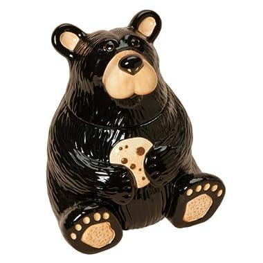 Black Forest Décor Black Bear Cookie Jar