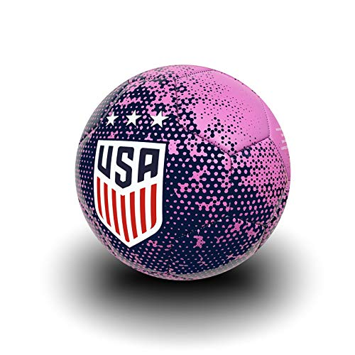 USA Soccer Ball Size 4, Official US Soccer Ball Navy/Pink Color (Pink Soccer Ball)