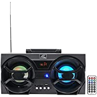 NYC Acoustics NPB3 Dual 30W Bluetooth Boombox Speaker with USB, SD, LED & Remote, 4