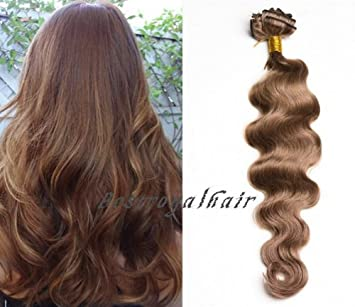 Amazon 18 clips full head medium golden brown color indian 18 clips full head medium golden brown color indian remy clip in hair extensions rhs100 pmusecretfo Choice Image