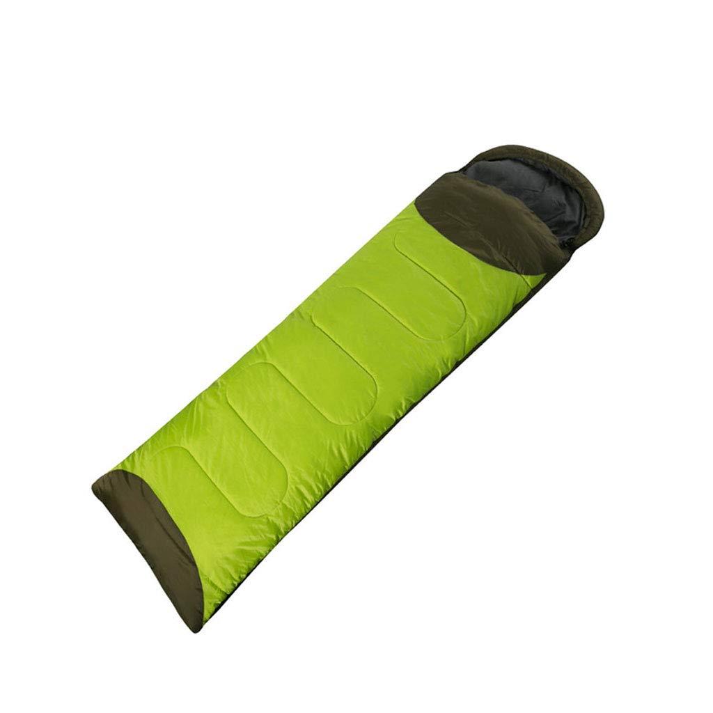 Schlafsäcke LCSHAN Polyester Mode Jahreszeiten Dicke warme Camping Reise Daunen Baumwolle (Kapazität   B, Farbe   Grün)