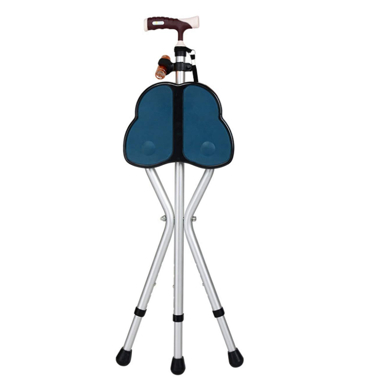 ずっと気になってた 高齢者の歩行スティックスツール、折りたたみ三脚スツールチェアマッサージシートで杖を歩く、関節炎の高齢者の障害者と高齢者 青 B07G61123L A|青 A 青 A A|青, マドンナ:8efdf8e5 --- a0267596.xsph.ru