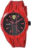 Ferrari Men's Red Rev Quartz Watch with Silicone Strap, 21 (Model: 830496)