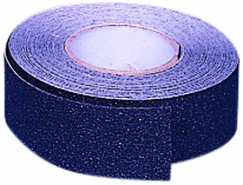 Mutual 17768 Aluminum Oxide Non Skid Abrasive Safety Tape, 60' Length x 1'' Width, Black