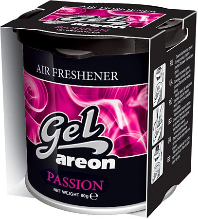 Areon GEL PASSION (can with vent system) scent. One piece. Enjoy your enviroment.