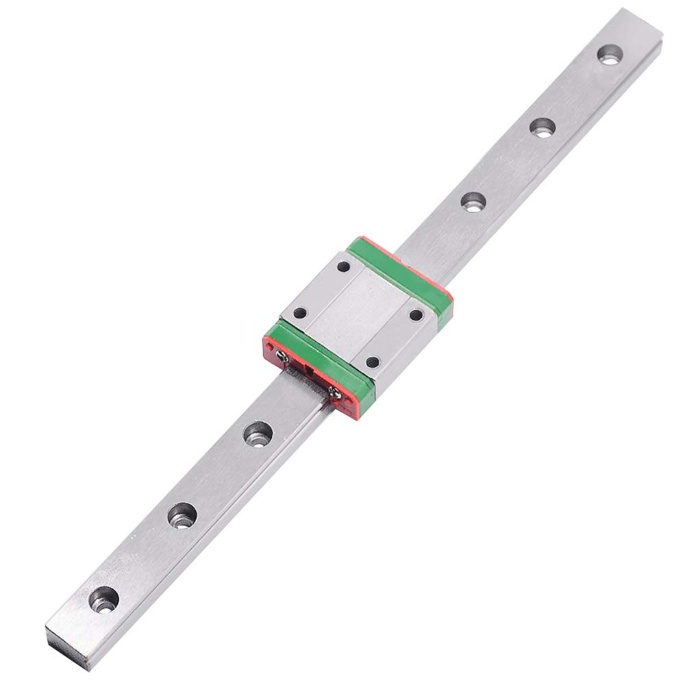 CNC Part MR15 15mm Linear Rail Guide MGN15 with Mini MGN15C Linear Block Carriage Miniature Linear Motion Guide Way (Press The Block to Slide) Length (600mm, MGN15C)