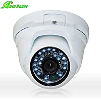 Auto Rover 1MP HD 720P Waterproof Dome Camera 24IR Wide Angle Lens White Camera Night Vision and 3.6 mm Lens Home Security Camera System