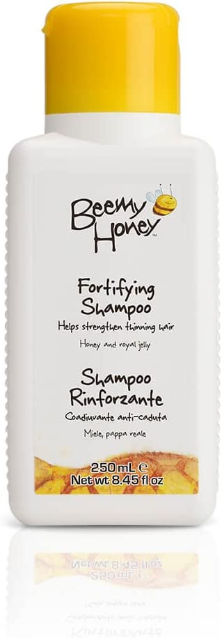 BeeMy Honey Fortifying Shampoo – Italian Lime Honey, Royal Jelly and Cucurbit Oil Strengthen Hair Damaged by Chemical and Heat Treatment – 99.4% Natural Origin, Made in Italy – Hypoallergenic, 8.45 oz